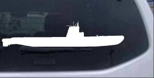 US Navy Balao Class Submarine Military car-window-decals-stickers