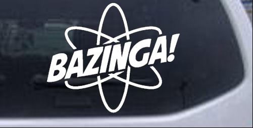 Bazinga Funny car-window-decals-stickers