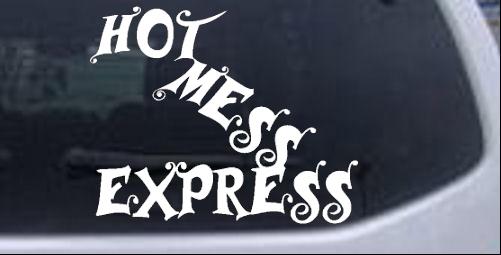 Hot Mess Express Girlie car-window-decals-stickers