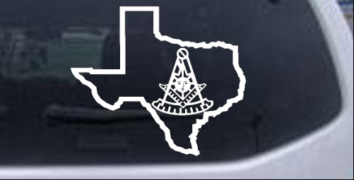 Texas Masonic Past Master Other car-window-decals-stickers