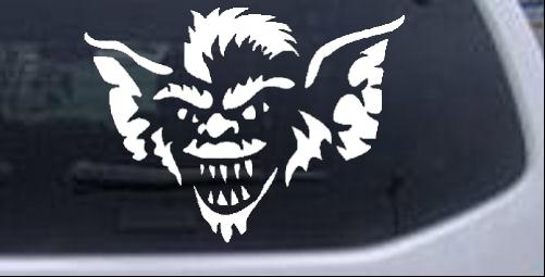 Stripe The Leader or Head Gremlin Sci Fi car-window-decals-stickers