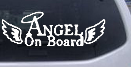Angel on Board Christian car-window-decals-stickers
