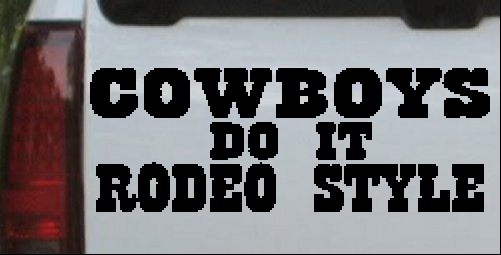 Cowboys Do It Rodeo Style
