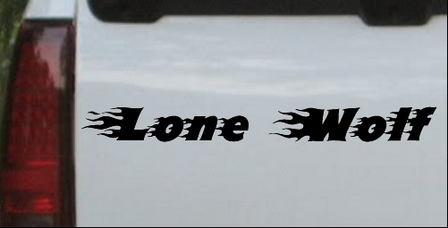 Flaming Lone Wolf Decal