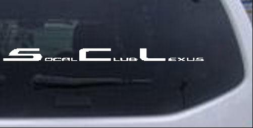 Club lexus decal
