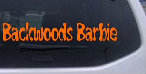 Backwoods Barbie Country Redneck Girl Car Or Truck Window Laptop - Country boy decals for trucks