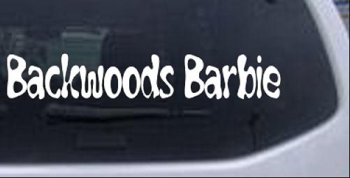 Backwoods Barbie Girlie car-window-decals-stickers