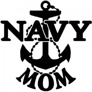 Navy Mom Military car-window-decals-stickers