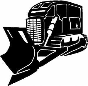 Rome Plow Closed In Military car-window-decals-stickers