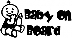 Baby On Board (Boy) Girlie car-window-decals-stickers