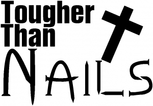 Tougher Than Nails Christian car-window-decals-stickers