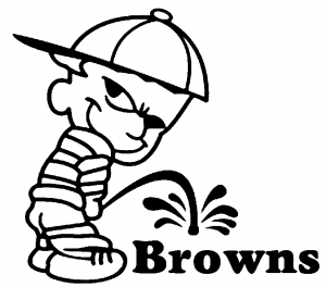 Pee On Browns Pee Ons car-window-decals-stickers