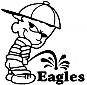 Eagles piss on decals