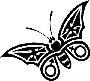 Tribal Butterfly Butterflies car-window-decals-stickers