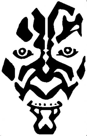 Star Wars Darth Maul Sci Fi car-window-decals-stickers