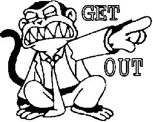 Evil Monkey Get Out