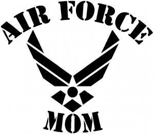 Air Force Mom Military car-window-decals-stickers