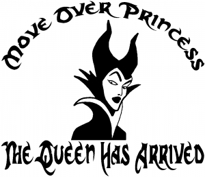 Move Over Princesses Girlie car-window-decals-stickers