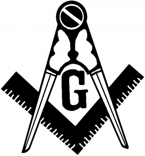 Masonic Square and Compass Other car-window-decals-stickers