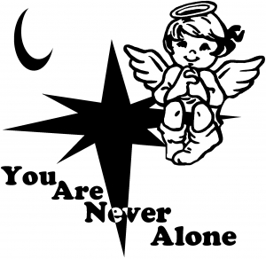 You Are Never Alone guardian angel decal