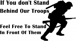 Stand Behind Our Troops Decal Military car-window-decals-stickers