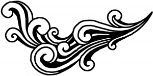 60s Style Swirl Wave Wall Decal Swirls car-window-decals-stickers