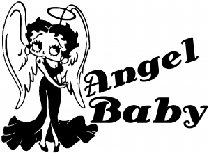 Betty Boop Angel Baby Decal