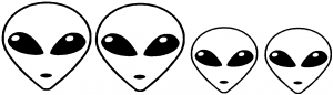 Alien Stick Family Decal