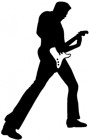 Guitar Player Silhouette Decal