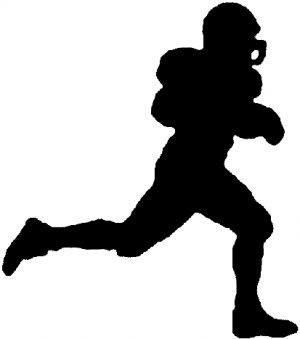 Football Player Running Decal