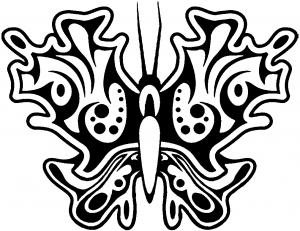 Tribal Butterfly Decal Butterflies car-window-decals-stickers