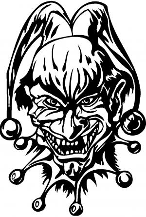 Mean joker decal car or truck window decal sticker rad dezigns