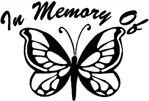 In Memory Of Butterfly Decal Butterflies car-window-decals-stickers