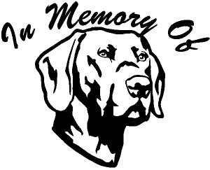In Memory Of Labrador Retriever Decal Animals car-window-decals-stickers