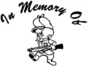 In Memory Of Elmer Fudd Decal