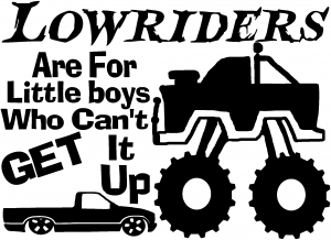 lowriders cant get it up off road decal car or truck window decal sticker rad dezigns. Black Bedroom Furniture Sets. Home Design Ideas