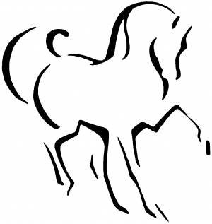 Tribal Horse Decal Car Or Truck Window Decal Sticker Rad Dezigns - Horse decals for trucks