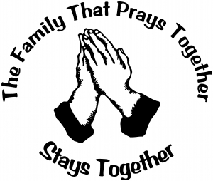 The Family That Prays Together Decal Christian car-window-decals-stickers