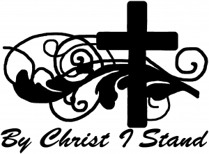 By Christ I Stand Christian Decal