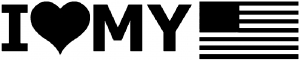 I Love My USA America Decal Military car-window-decals-stickers