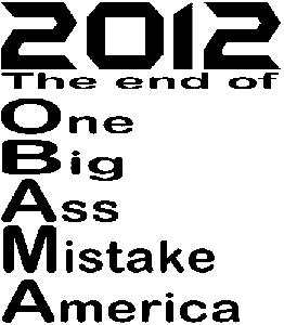 Anti Obama 2012 One Big Ass Mistake Decal