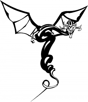 Dragon Flying Decal Enchantments car-window-decals-stickers