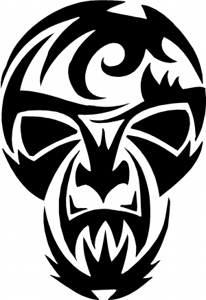 Tribal skull mask decal car or truck window decal sticker rad dezigns