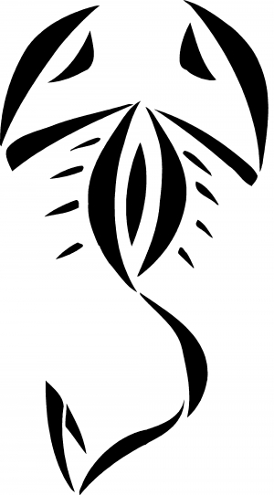 Tribal Scorpion Decal