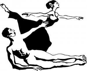 Couple Ballerinas Dancing Decal People car-window-decals-stickers