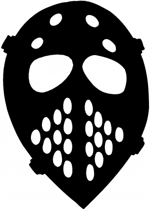 Hockey Mask Decal Sports car-window-decals-stickers