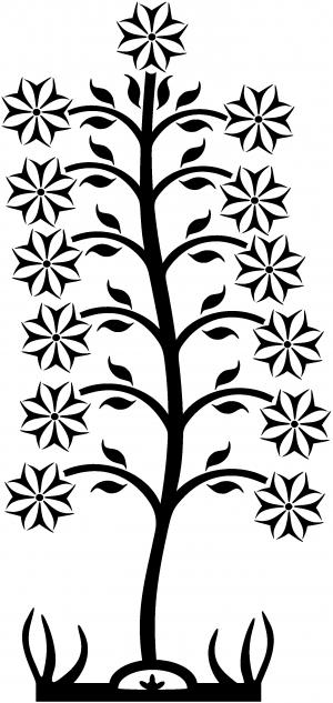Flower Stalk Wall Decal