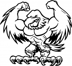 Muscular Bald Eagle Decal Animals car-window-decals-stickers