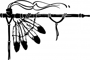 Indian Peace Pipe Decal Western car-window-decals-stickers