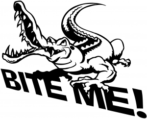 Bite Me Gator Decal